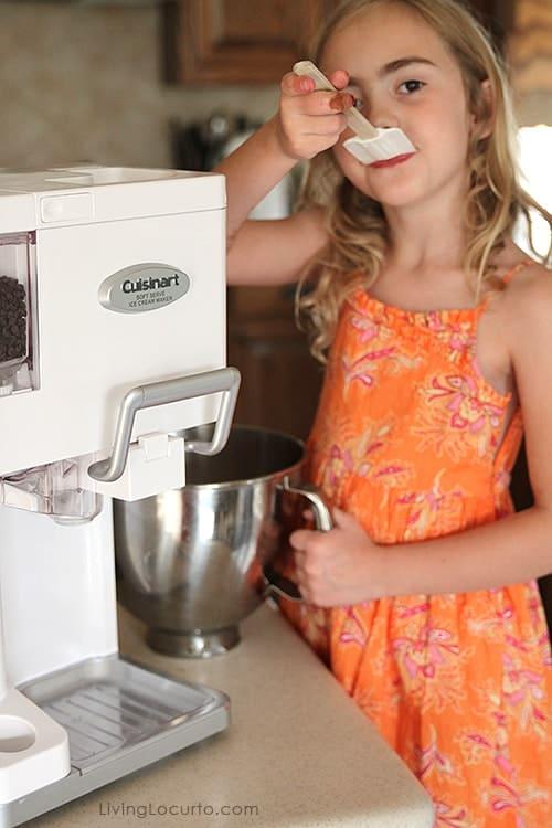 Homemade soft serve ice cream maker