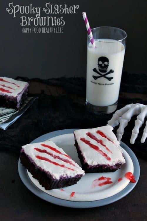 15 Halloween Party Appetizer Recipes - Slasher Brownies