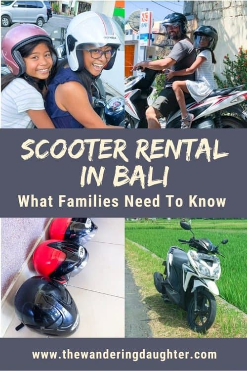 Scooter rental in Bali: what families need to know | The Wandering Daughter's tips for families visiting Bali, Indonesia, to rent a scooter in Bali.