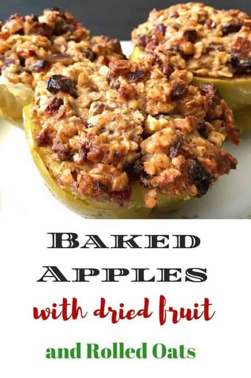 Baked Apples with Rolled Oats Dried Fruit