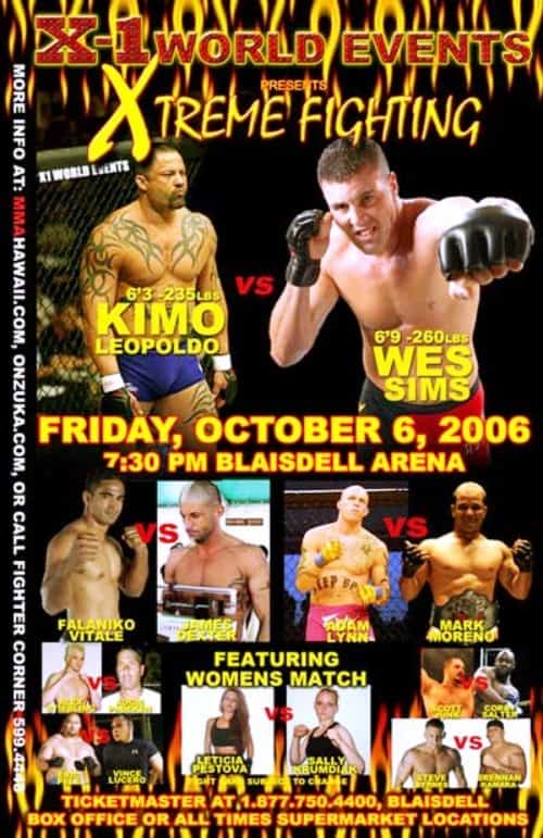 "X1 #5 ""Xtreme Fighting 1"" Oct 06, 2006 Honolulu, Hawaii"