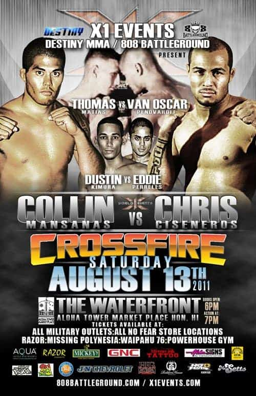 X1#38: Crossfire (Aug 13, 2011) Fight Results