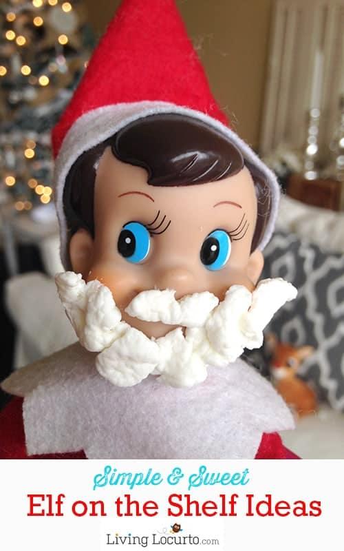 Simple Elf on the Shelf Ideas. Printables and funny photos for Christmas time fun! LivingLocurto.com