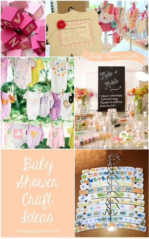 7 Adorable Baby Shower Craft Ideas for Party Guests! LivingLocurto.com