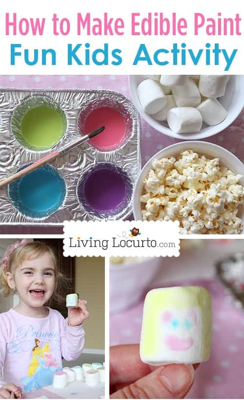 How to Make Edible Paint - Indoor Craft Activity for Kids! LivingLocurto.com