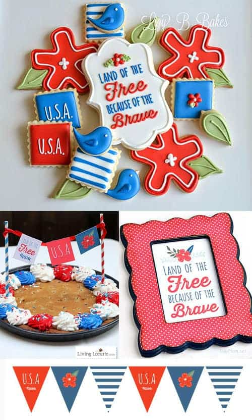 4th of July Patriotic Party Ideas with Printables. LivingLocurto.com