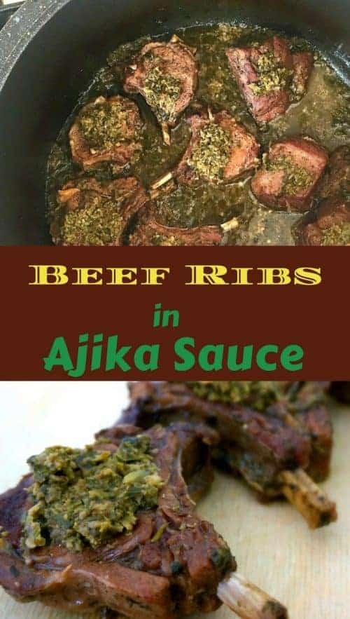 Beef Ribs in Ajika Sauce
