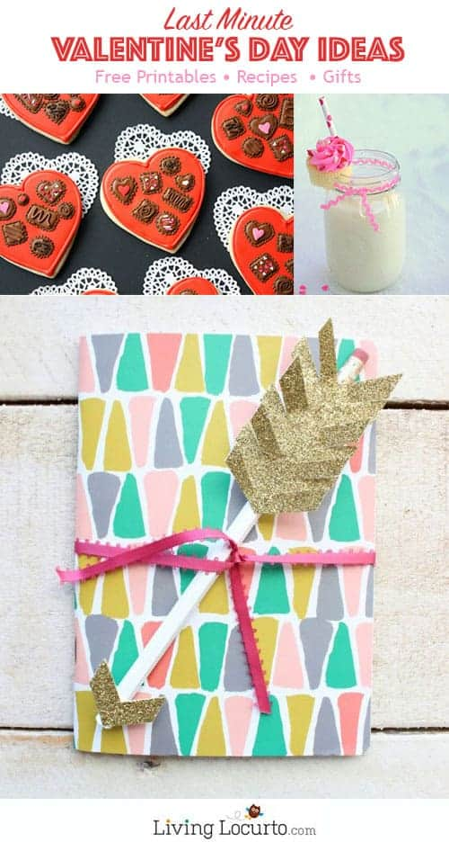 Last Minute Valentine's Day Gift Ideas and Free Printables. LivingLocurto.com