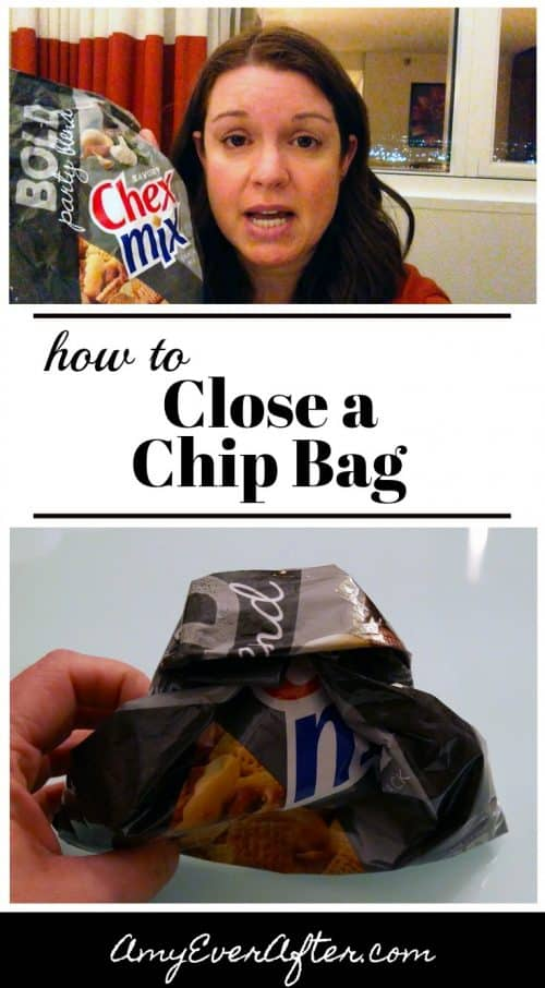 Want to know how to close a chip bag without a clip or rubber band? This trick has been saving my snacks from getting stale for years!