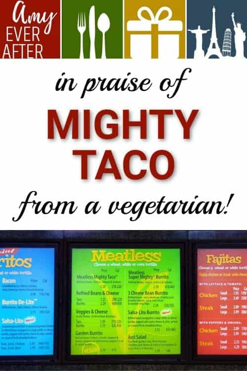 Looking for vegetarian fast food options? If you're in Western New York, you're in luck: Mighty Taco now has a dedicated menu section for meatless food! #vegetarian #Buffalo #FastFood