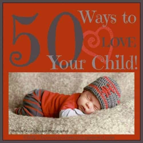 It isn't always easy to know your child's love language when they are small. Here are 50 practical, concrete ways to show your child that you love them using all five love languages.