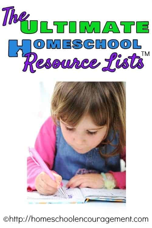 A Collection of the Ultimate Homeschool Resource Lists from #Homeschool Encouragement