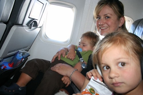 toddler sleep on plane, toddler sleep on a plane, Child Free Flights, Traveling Parents, Traveling Children, family on plane