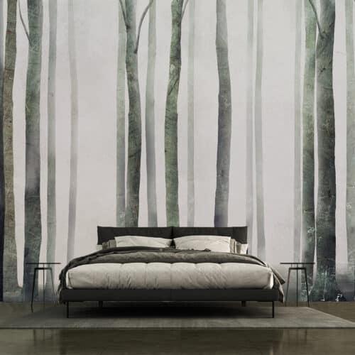 Tapety do małej sypialni las we mgle
