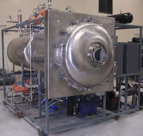 A large metal device for freeze drying