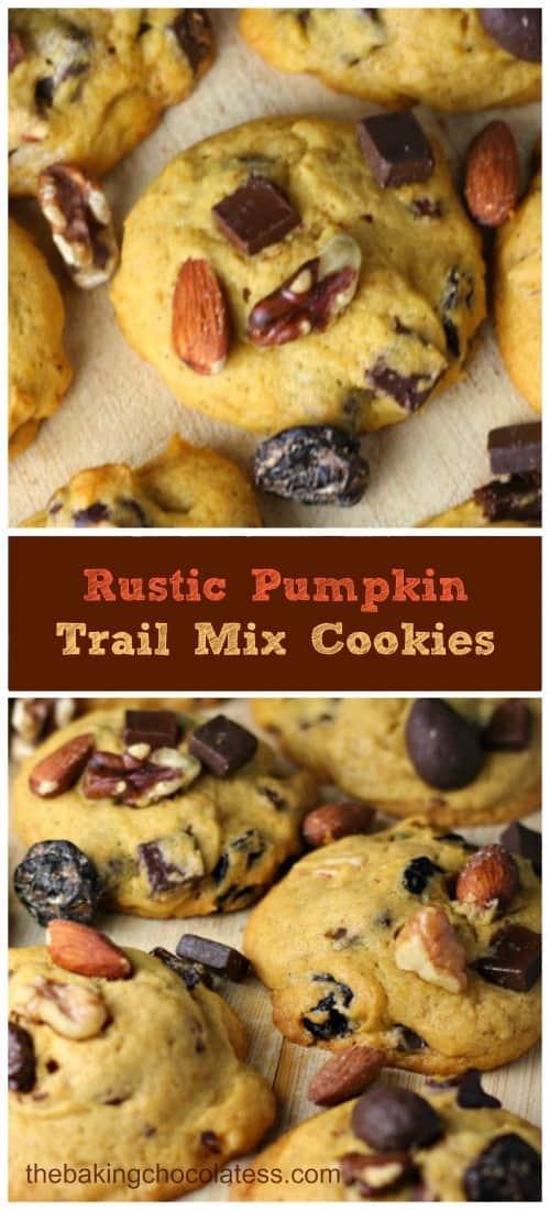 Rustic Pumpkin Trail Mix Cookies