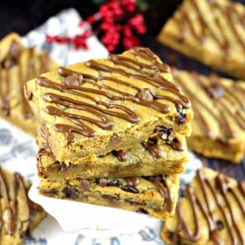 Sheet Pan Peanut Butter Chocolate Blondie Dream Bars