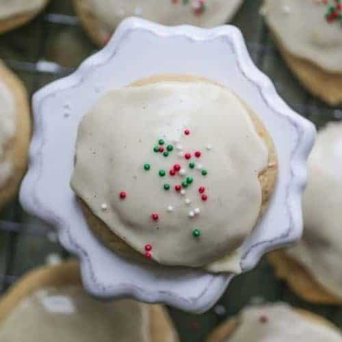 Easy Glazed Eggnog Drop Cookies