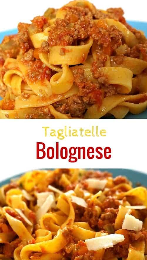 Tagliatelle Bolognese Recip