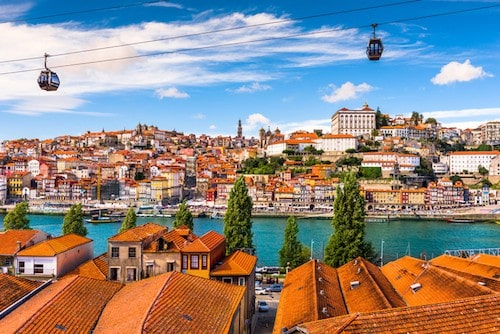 Top Things to do in Porto Portugal - Ride the Cable Car   Winetraveler.com