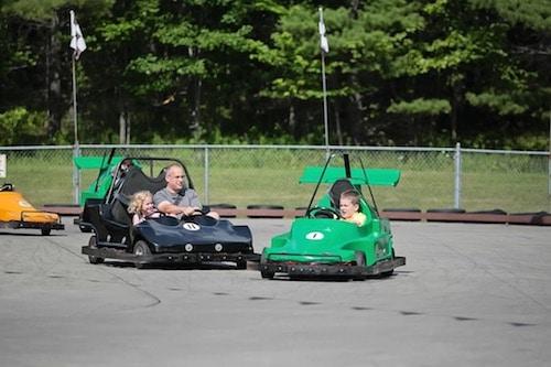 Go-Karting at Harris Hill Amusement Park. Image courtesy Heather Goodreau.