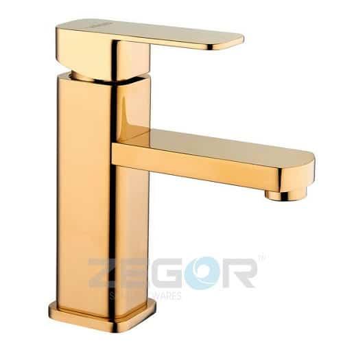 Смеситель для умывальника Zegor LEB1-A123-G (золото)