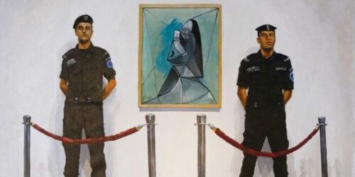 Khaled Hourani, banner, Palestinian Artist