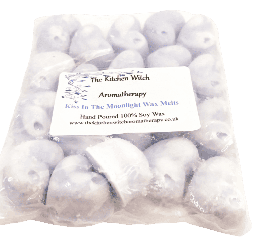 Image shows the outer packaging for the Kitchen Witch Aromatherapy Wax Melts.