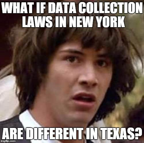 check data collection laws in your state
