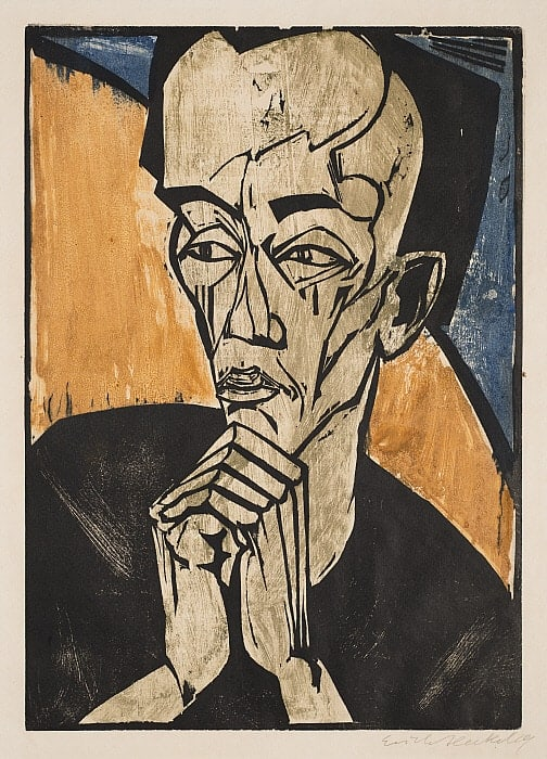 Erich Heckel, Portrait of a Man, circa 1918