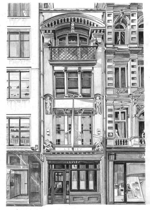 Pencil Drawing of 31 Old Bond Street