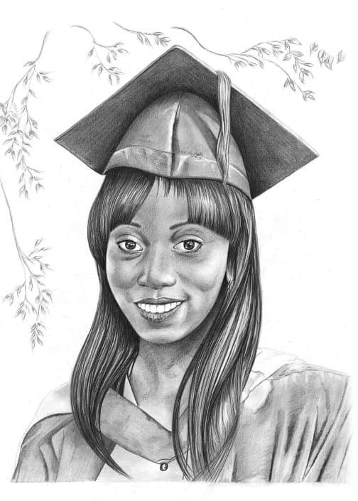 Pencil Portrait of Graduation