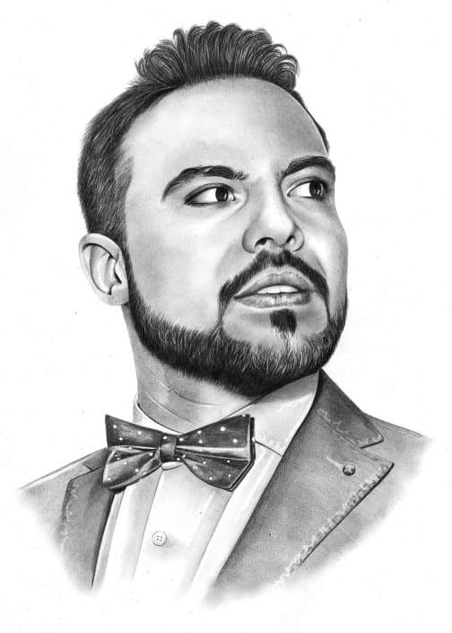 Pencil Portrait of Man