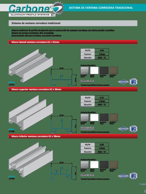 Sistema de Ventana Corredera de Aluminio