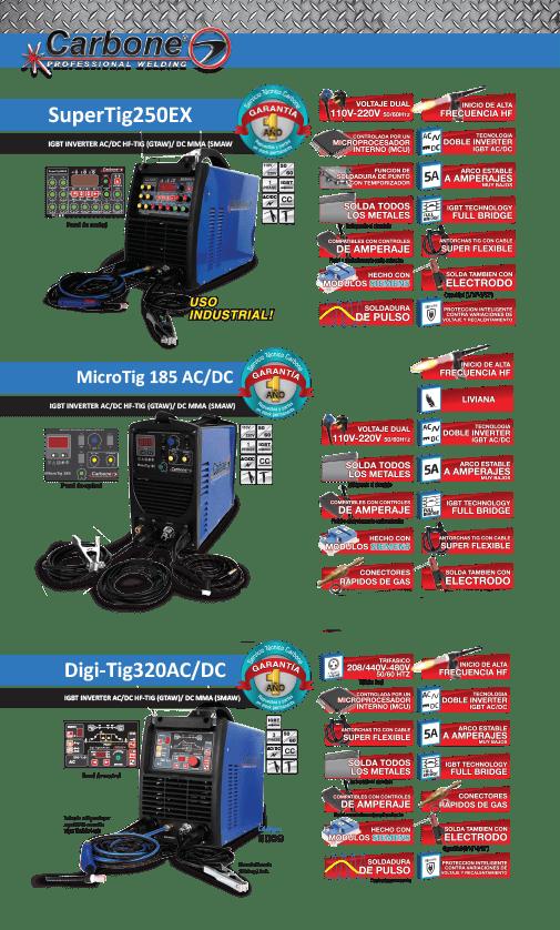 maquinas TIG AC