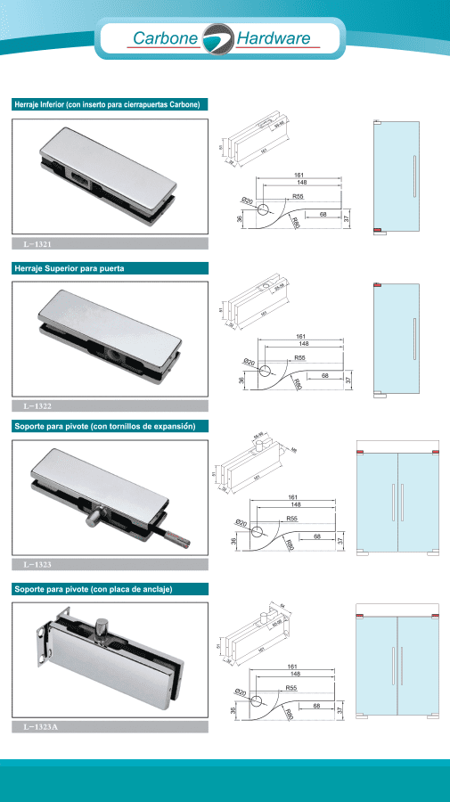 Tempered Glass Hardware for Facades
