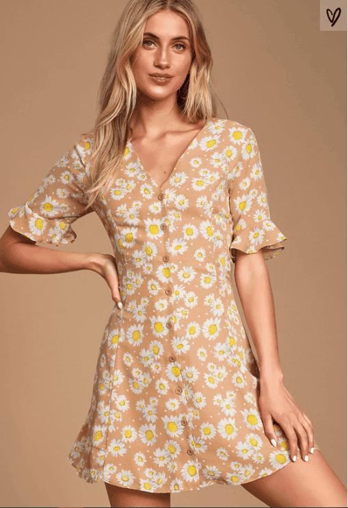 Castaluna Floral Print button-up dress