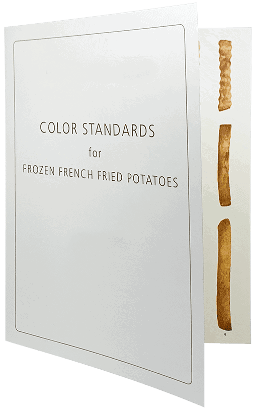 French fry chip colour chart