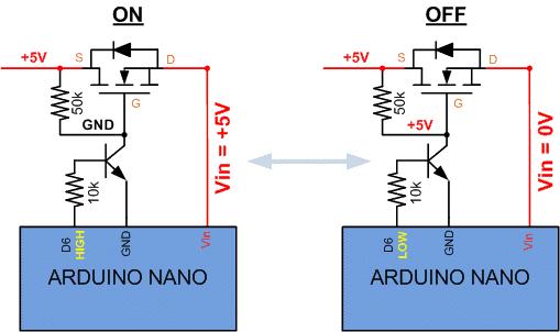 Mosfet proteccion de bateria Arduino