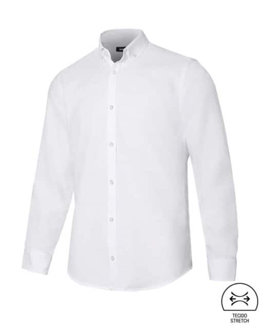 Camisa homem stretch restauração branca