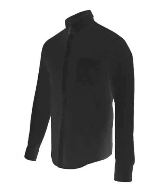 Camisa homem stretch hoteleria preta