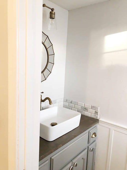 updated guest bathroom