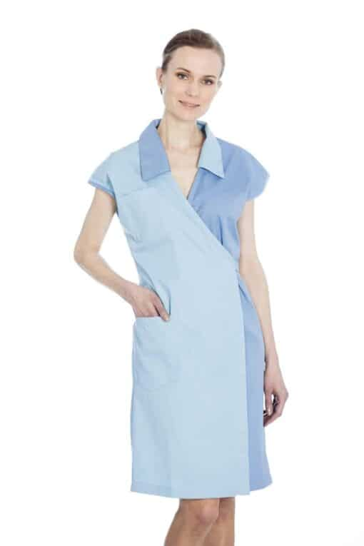 Ladies Blue Smock 2236