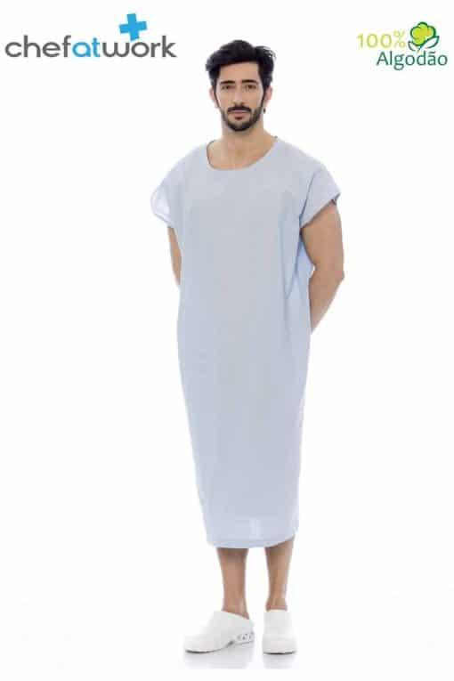 Classic Patient Gown Blue Front