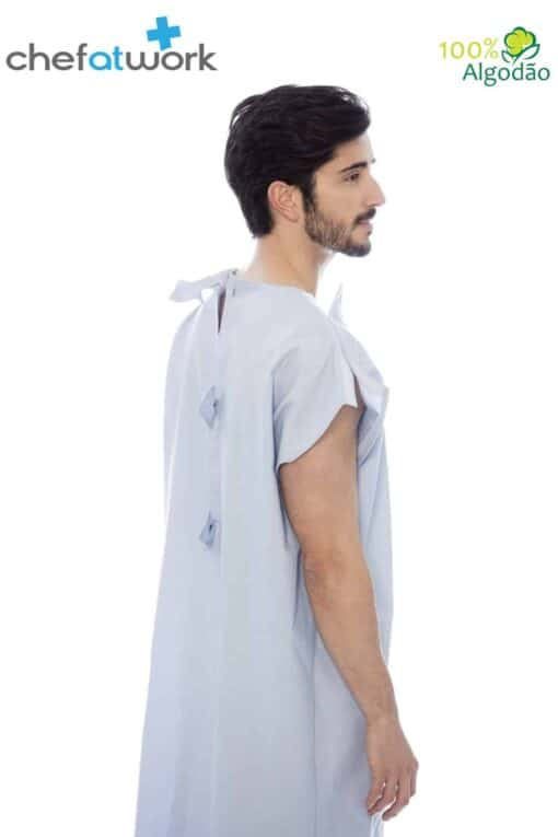Classic Patient Gown Blue Back