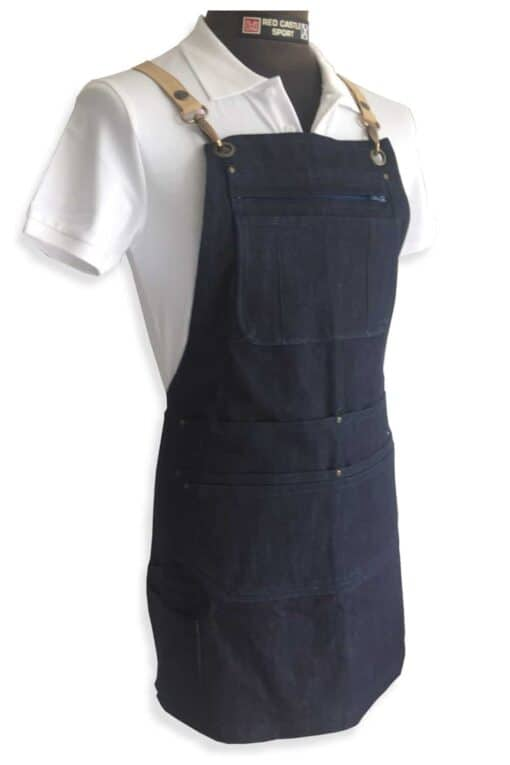 Denim apron 163 multipocket