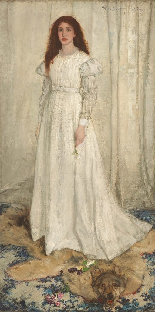 James Whistler, Symphony in White no. 1 (The White Girl), 1862. Displayed at the Salon des Refusés.