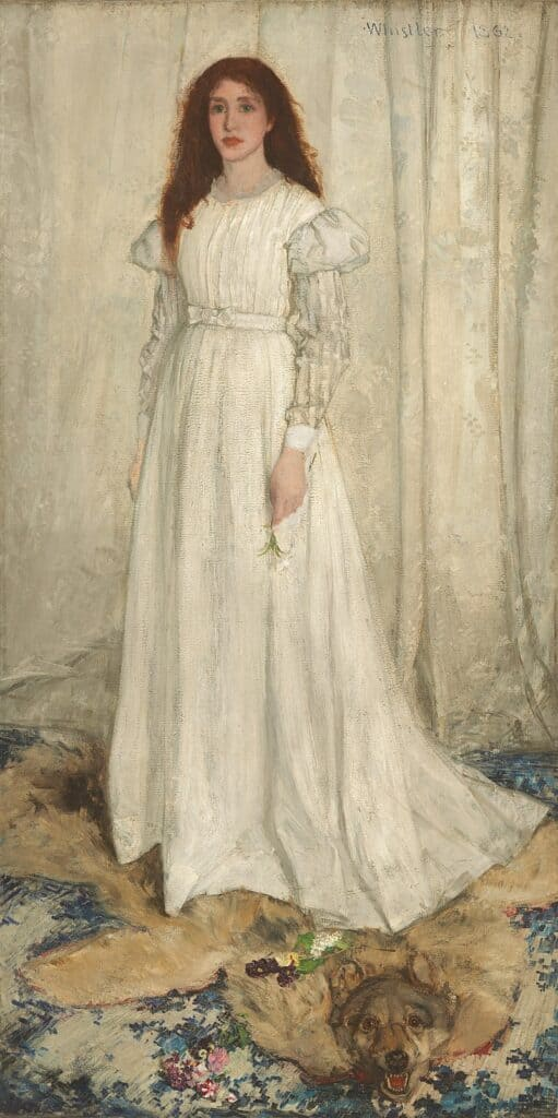 Whistler James Symphony in White no 1: The White Girl, 1862
