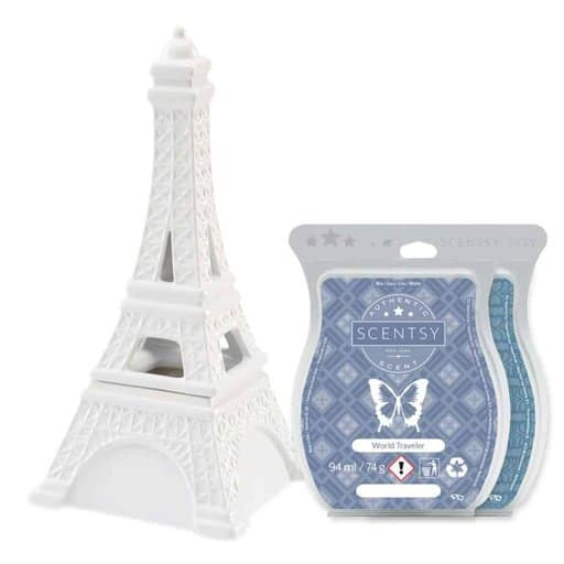 Eiffel Tower Candle Wax Warmer and Scentsy Bars Valentines Day Gift