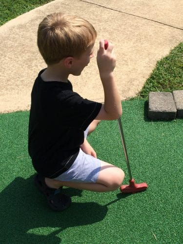 Miniature golf can be a form of cheap entertainment, a special treat for Staycations!